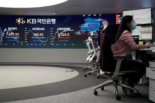 Saham Korsel ditutup lebih rendah, indeks KOSPI jatuh 1,93 persen