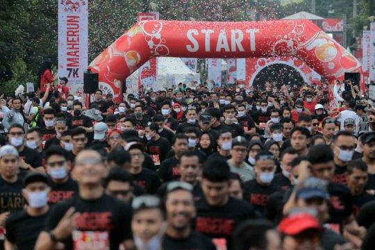 MaHe Run 2020 tetap berjalan meski sebagian peserta bermasker