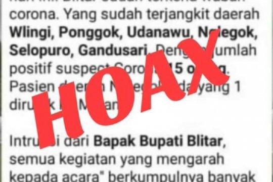 Pemkab Blitar sebut hoaks kasus warga positif COVID-19