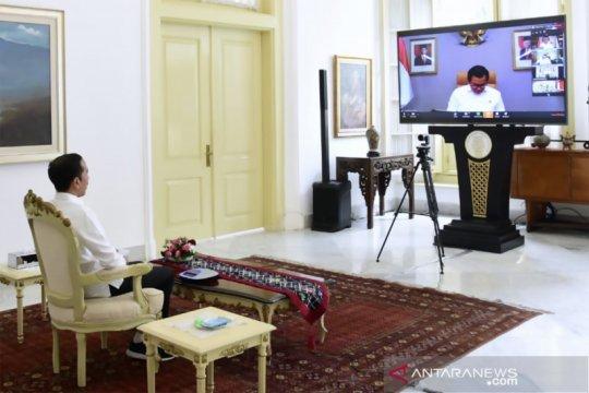Presiden Jokowi gelar rapat kabinet secara daring