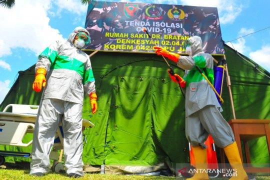 Tenda isolasi COVID-19 TNI di Jambi