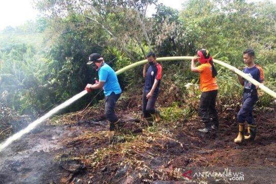 Puntung rokok diduga sebabkan lahan gambut terbakar di Aceh Barat