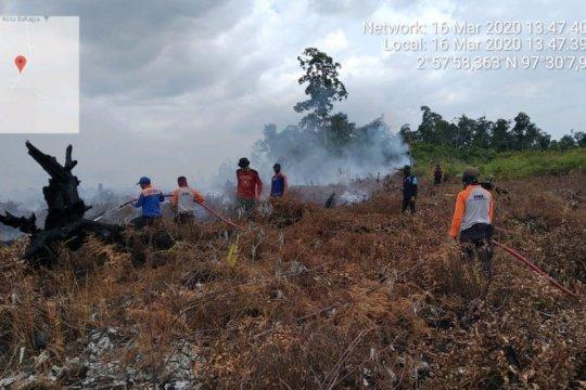 Tujuh hektare lahan tidur terbakar di Aceh Selatan