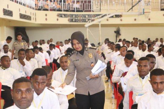 929 peserta bintara noken ikuti ujian akademik