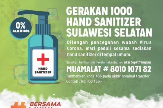 1.000 penyanitasi tangan disiapkan ACT Sulsel di tempat publik