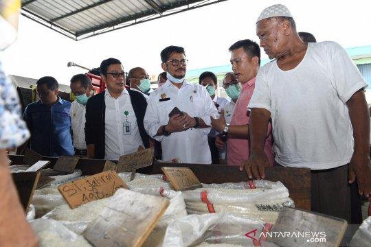 Mentan sidak ke Pasar Induk Cipinang, pastikan stok pangan aman