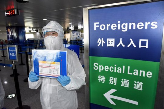 China laporkan lima kasus baru COVID-19 impor, tiga kasus OTG