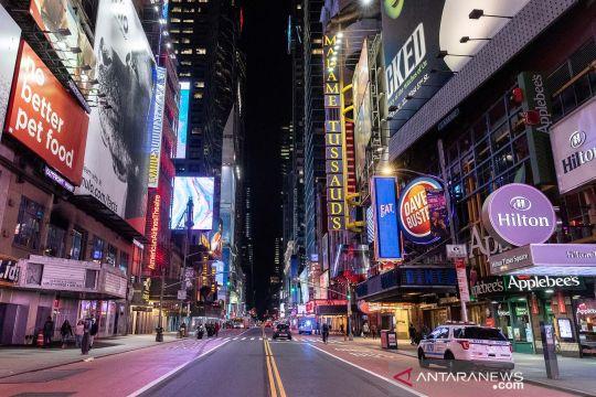New York lengang karena wabah COVID-19, begini suasana kotanya