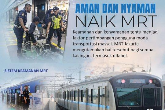 Aman dan nyaman naik MRT