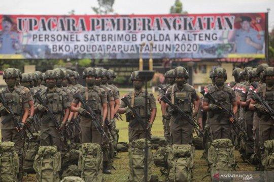 Polda Kalteng kirim 100 personel BKO ke Papua
