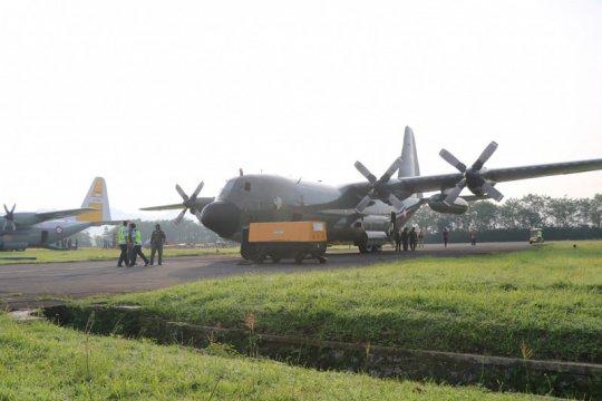 Hercules Skadron Udara 32 diberangkatkan ke RRT ambil alkes COVID-19