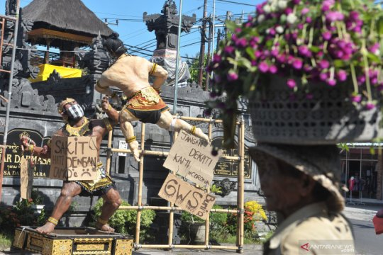 Larangan mengarak ogoh-ogoh di Bali