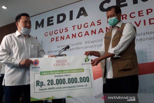 PT Adaro serahkan bantuan Rp20 miliar untuk tangani COVID-19