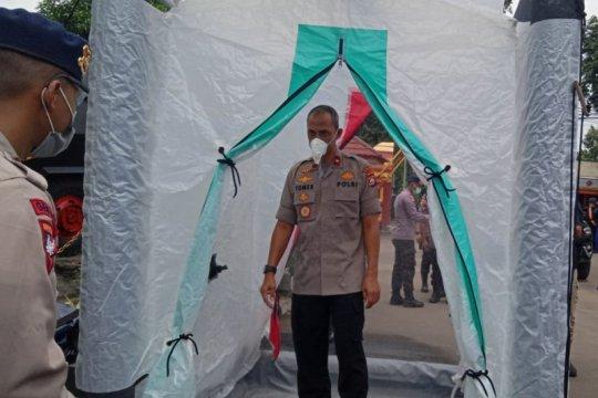 Sat Brimob Polda Banten perketat masuk Mako cegah COVID-19