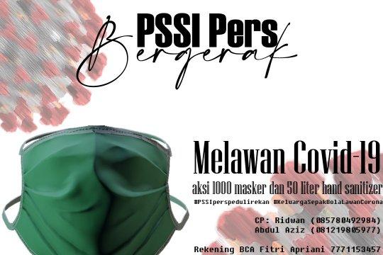 PSSI Pers sumbang 1.000 masker bantu lawan COVID-19