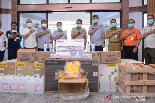 PT Timah salurkan 30 alat semprot dan 1.000 liter disinfektan