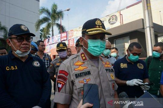Kapolda Sumut tinjau lokasi ledakan di Plaza Ramayana Medan