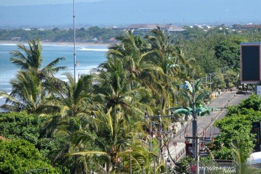 Suasana Bali terpantau sepi dan hening saat Nyepi