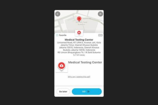 Waze tambahkan titik lokasi rumah sakit rujukan corona