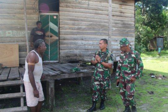 Kasdim Merauke tinjau pembangunan 20 rumah TMMD di Kampung Epem