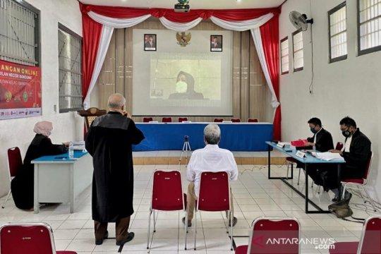 Rutan Bandung gelar sidang online