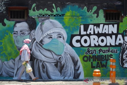 Mural edukasi cegah penyebaran COVID-19