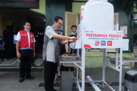 Pertamina-ACT DIY siapkan wastafel portabel di pasar Yogyakarta