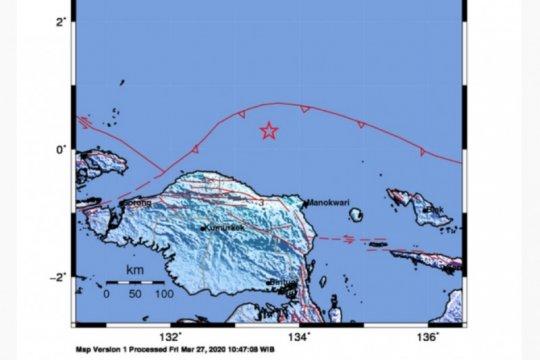 BMKG: Belum ada laporan kerusakan akibat gempa tektonik di Manokwari
