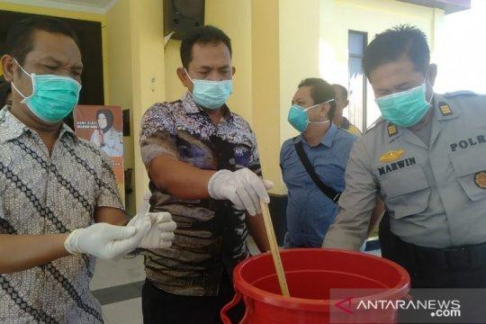 Barang bukti sabu senilai Rp79 juta dimusnahkan polisi