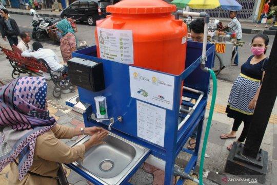 Fasilitas tempat cuci tangan portabel di kota Bogor