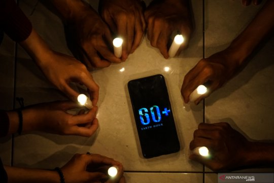 Earth Hour 2020 di Palangkaraya