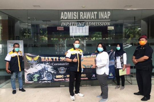 Motor Besar Club Jawa Timur sumbang APD untuk tenaga medis di RSUA