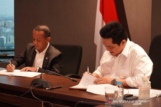 Menteri BUMN dan Kepala BKPM tandatangani MoU Koordinasi Tugas