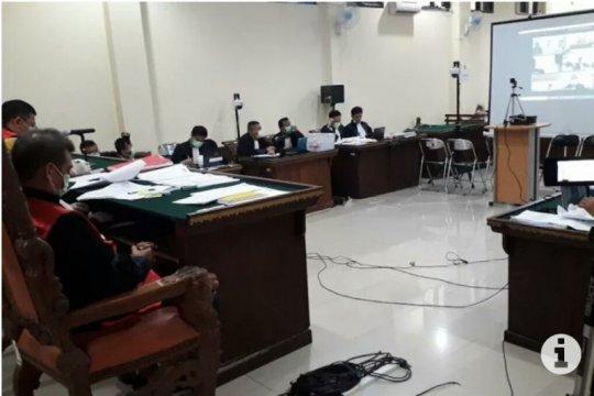 Sidang suap proyek PUPR Lampung Utara digelar secara online