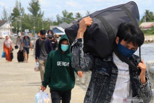 Warga antusias pulang kampung di Aceh Barat