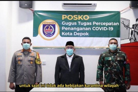 Pemkot Depok tegaskan saat ini tak ada karantina wilayah