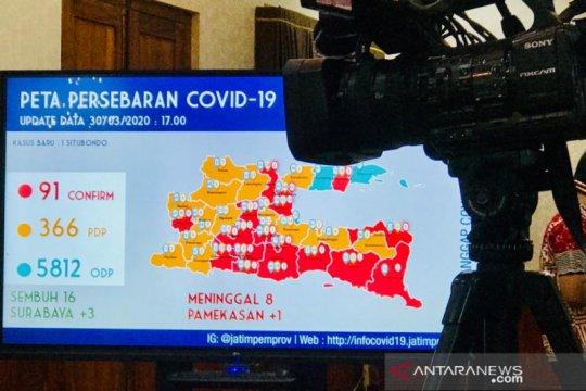 Gubernur Jatim sebut 16 pasien COVID-19 dinyatakan sembuh