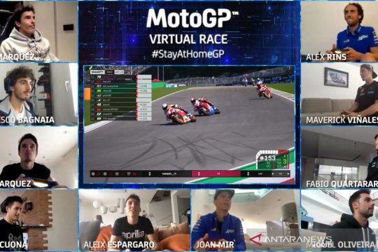"""Begini penampakan """"virtual race"""" Moto GP"""
