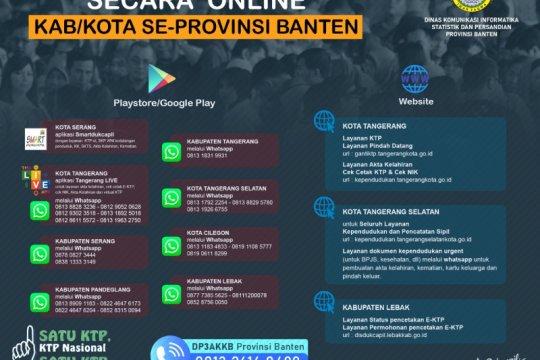 Pelayanan Dukcapil 'online' di Banten berjalan lancar