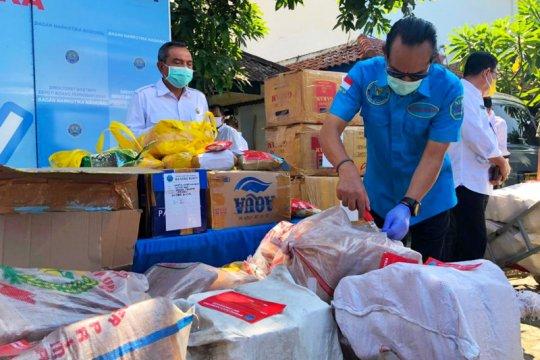 BNN musnahkan barang bukti 1,3 ton ganja-puluhan kilogram sabu