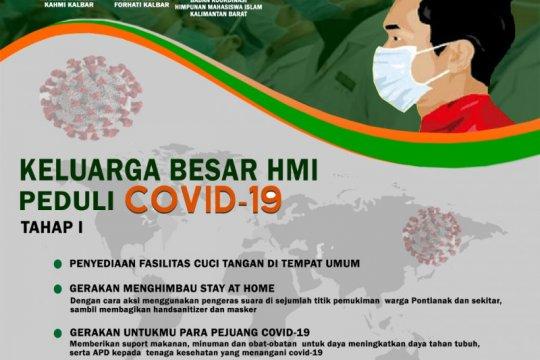 Keluarga besar HMI Kalbar gelar aksi sosial cegah COVID-19