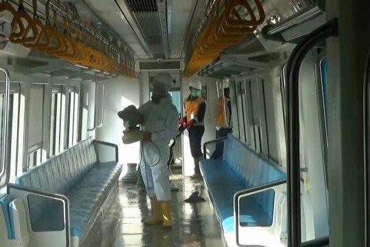 Kebersihan trainset dan stasiun LRT Sumsel ditingkatkan