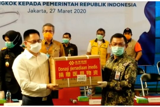 40 ton bantuan alkes dari China tiba di Indonesia