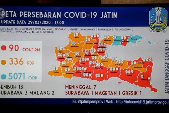 Khofifah ungkap 17 daerah terjangkit COVID-19 di Jatim