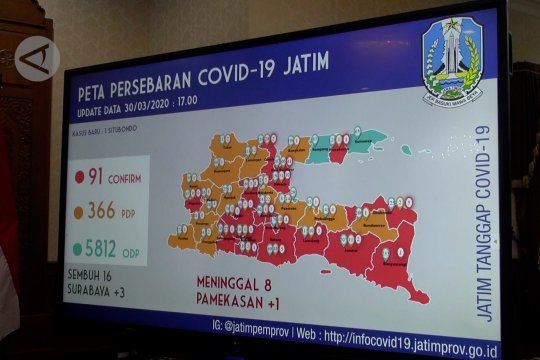 Jatim umumkan 16 pasien positif COVID-19 sembuh