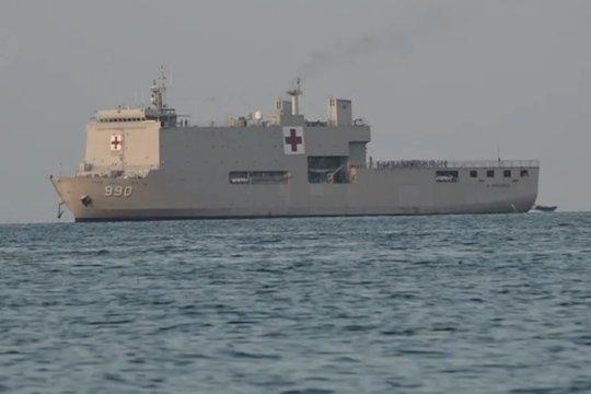 KRI Soeharso telah tiba di perairan Pulau Sebaru Kecil