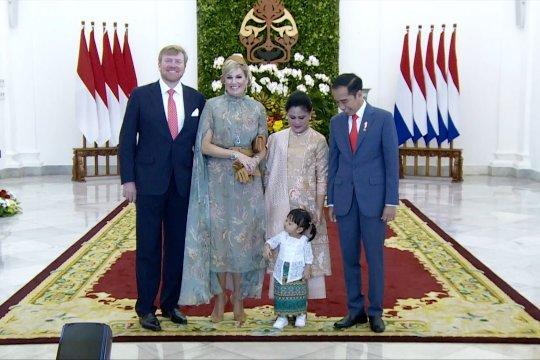 Presiden, Ibu Negara, dan cucu Sambut Raja-Ratu Belanda di Istana Bogor