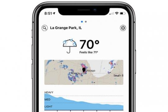 Diakuisisi Apple, aplikasi cuaca Dark Sky hilang dari Android