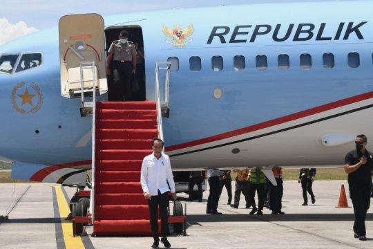 "Presiden jelaskan makna ""lockdown"" saat tinjau RS darurat Pulau Galang"