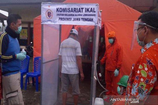 Alumni Lemhanas bantu bilik disinfektan di sejumlah titik di Jateng